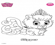 palace pets slipper disney dessin à colorier