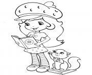 fraisinette aime la lecture dessin à colorier
