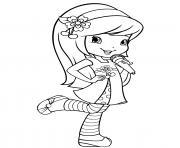 fraisinette chante bien dessin à colorier