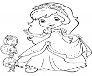 strawberry shortcake and berrykins dessin à colorier