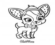 petit chien chiffon fraisinette dessin à colorier