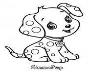 chien cinnapup fraisinette animaux dessin à colorier