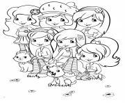 fraisinette et ses amies dessin à colorier