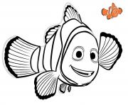 Coloriage nemo 2 poisson rouge disney