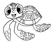 squirt petite tortue de nemo et dory dessin à colorier