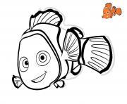 nemo 3 poisson rouge cherche papa disney dessin à colorier