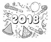 Coloriage Bonne Annee Nouvel An à Imprimer Gratuit Sur Coloriageinfo