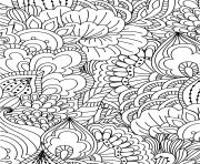 Coloriage fleurs adulte pattern zentangle