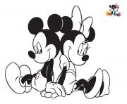 Coloriage disney mickey et minnie2