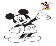 Coloriage disney mickey original