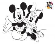 Coloriage Mickey les bras ouverts dessin