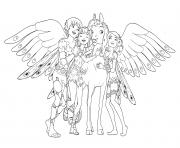 Coloriage Mia et moi avec ses amies dessin