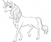Coloriage Mia and Me Unicorn