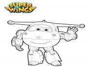 Jett en mode robot2 dessin à colorier