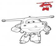 super wings Jett Robot dessin à colorier
