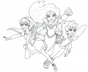 Coloriage Wonder woman and friends super hero girls