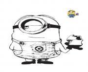 minion aime la creme glace dessin à colorier