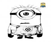 minion est fige sans emotion dessin à colorier