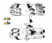 Coloriage Minions à Imprimer Gratuit Sur Coloriageinfo