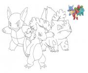 Coloriage tv pokemon dessin