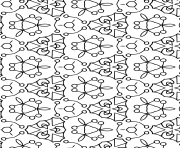 Coloriage pattern adulte antistress