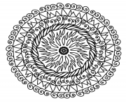 Coloriage mandalas a telecharger gratuitement 24 dessin