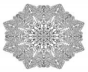Coloriage mandala adulte antistress