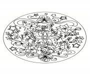 mandala noel 13 dessin à colorier