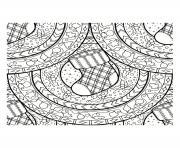 Coloriage mandala noel plein de sapin de noel dessin