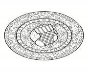 mandala noel bas de noel dessin à colorier