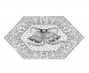 Coloriage mandala noel etoiles dessin