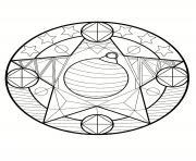 mandala noel etoiles dessin à colorier