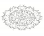 mandala noel 10 dessin à colorier