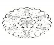 Coloriage mandala noel 13 dessin
