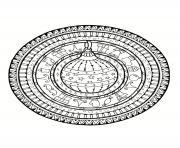 mandala noel boule de noel dessin à colorier