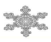 mandala noel flocon de neige dessin à colorier