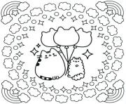 Coloriage cinnamoroll pusheen