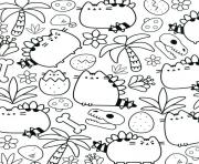 Coloriage Pusheen Therapy for Adults