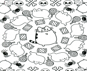 Coloriage Kawaii pusheen dessin