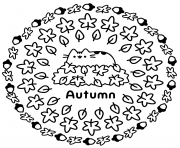 Coloriage Pusheen Autumn