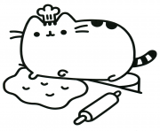 Coloriage Pusheen the Cat Chef Cook