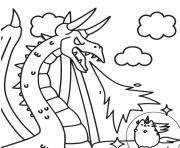 Coloriage pusheen vs dragon