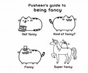 Coloriage pusheen guide fancy kind of fancy super