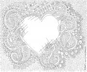Coloriage amour adulte inspiration zen