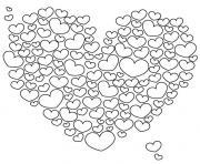 coeurs adulte amour zen dessin à colorier