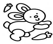 facile lapin maternelle enfant dessin à colorier
