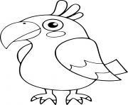 facile perroquet dessin à colorier