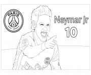 joueur de foot neymar jr psg dessin à colorier