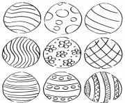 Coloriage oeuf de paquess pattern