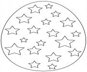 oeuf de paques avec stars dessin à colorier